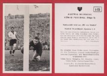 West Germany v Spain 1952 Turek Fortuna Dusseldorf Retter Stuttgart D45